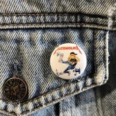 ALCOHOLICA button Metallica 25mm 1inch