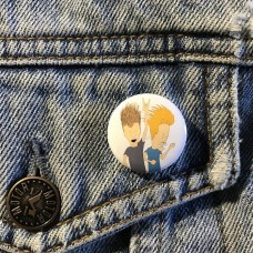 BEAVIS AND BUTTHEAD button 25mm 1inch