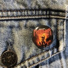 MANOWAR button Kings Of Metal 25mm 1inch
