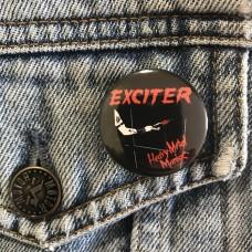 EXCITER button Heavy Metal Maniac 32mm 1.25inch