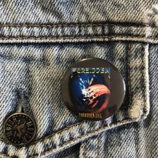 FORBIDDEN button 32mm 1.25inch