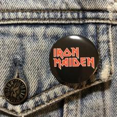IRON MAIDEN button logo 32mm 1.25inch