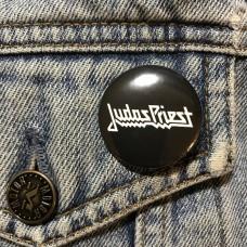 JUDAS PRIEST button logo 32mm 1.25inch