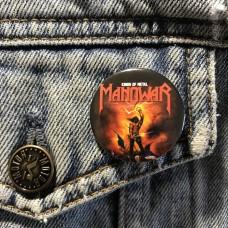 MANOWAR button Kings Of Metal 32mm 1.25inch