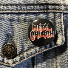 METAL CHURCH button 32mm 1.25inch
