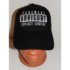 PARENTAL ADVISORY EXPLICIT CONTENT baseball cap hat embroidered logo