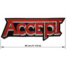 ACCEPT back patch embroidered logo