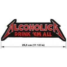 ALCOHOLICA back patch embroidered logo Metallica