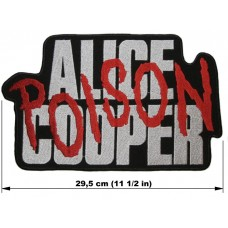 ALICE COOPER back patch embroidered logo