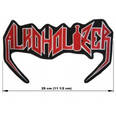 ALKOHOLIZER back patch embroidered logo