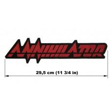ANNIHILATOR back patch embroidered logo