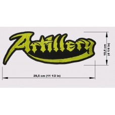ARTILLERY back patch embroidered logo