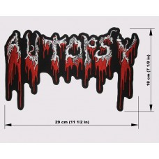 AUTOPSY back patch embroidered logo