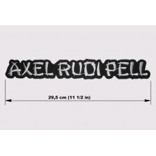 AXEL RUDI PELL back patch embroidered logo