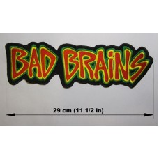 BAD BRAINS back patch embroidered logo