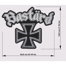 BASTARD back patch embroidered logo Motorhead