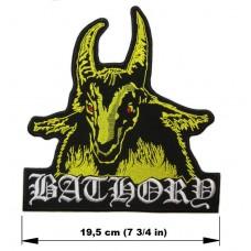 BATHORY back patch embroidered logo