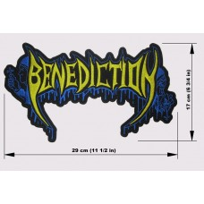 BENEDICTION back patch embroidered logo