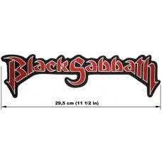 BLACK SABBATH back patch embroidered logo