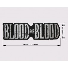 BLOOD FOR BLOOD back patch embroidered logo