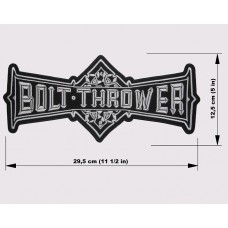 BOLT THROWER back patch embroidered logo