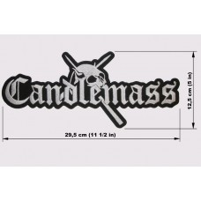 CANDLEMASS back patch embroidered logo