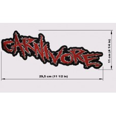 CARNIVORE back patch embroidered logo