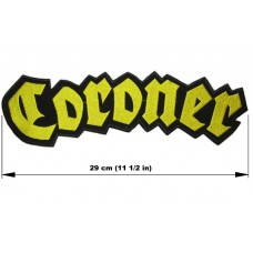 CORONER back patch embroidered logo