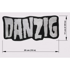 DANZIG back patch embroidered logo