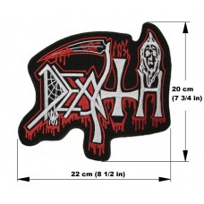 DEATH back patch embroidered logo