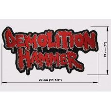 DEMOLITION HAMMER back patch embroidered logo