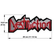 DESTRUCTION back patch embroidered logo