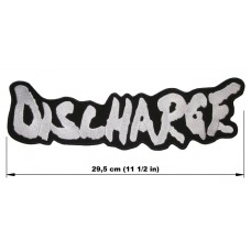 DISCHARGE back patch embroidered logo