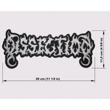DISSECTION back patch embroidered logo
