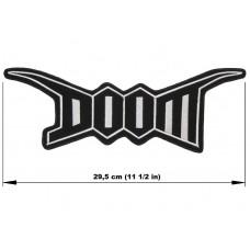 DOOM back patch embroidered logo