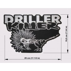 DRILLER KILLER back patch embroidered logo