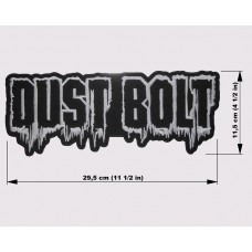 DUST BOLT back patch embroidered logo
