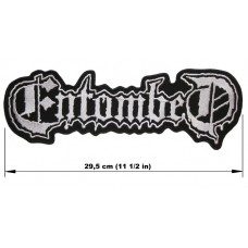 ENTOMBED back patch embroidered logo