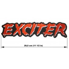 EXCITER back patch embroidered logo