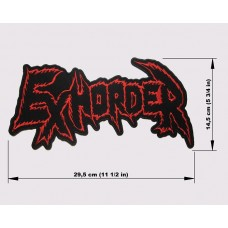 EXHORDER back patch embroidered logo
