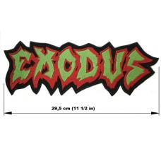 EXODUS back patch embroidered logo