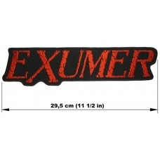 EXUMER back patch embroidered logo