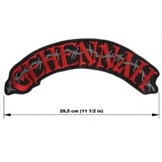 GEHENNAH back patch embroidered logo