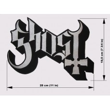 GHOST back patch embroidered logo