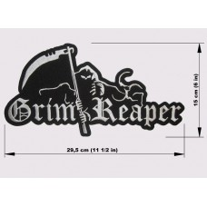 GRIM REAPER back patch embroidered logo