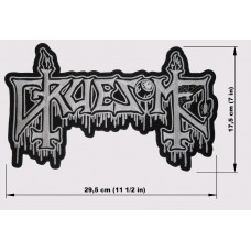 GRUESOME back patch embroidered logo