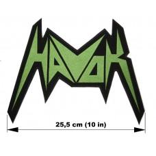 HAVOK back patch embroidered logo