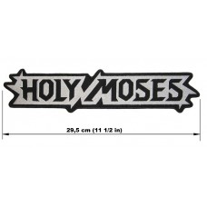 HOLY MOSES back patch embroidered logo