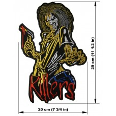 IRON MAIDEN back patch Killers embroidered