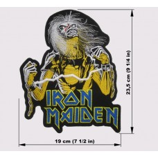 IRON MAIDEN back patch Live After Death embroidered